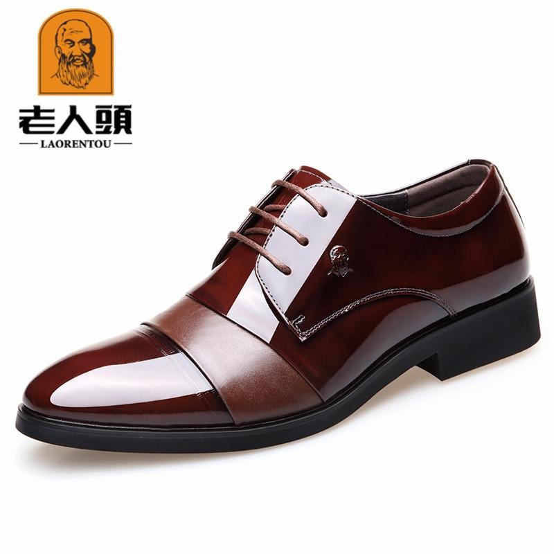 Lotoire hommes caché ascenseur hommes chaussures affaires vêtements de cérémonie respirant mariage chaussures marié en cuir véritable chaussures 5793