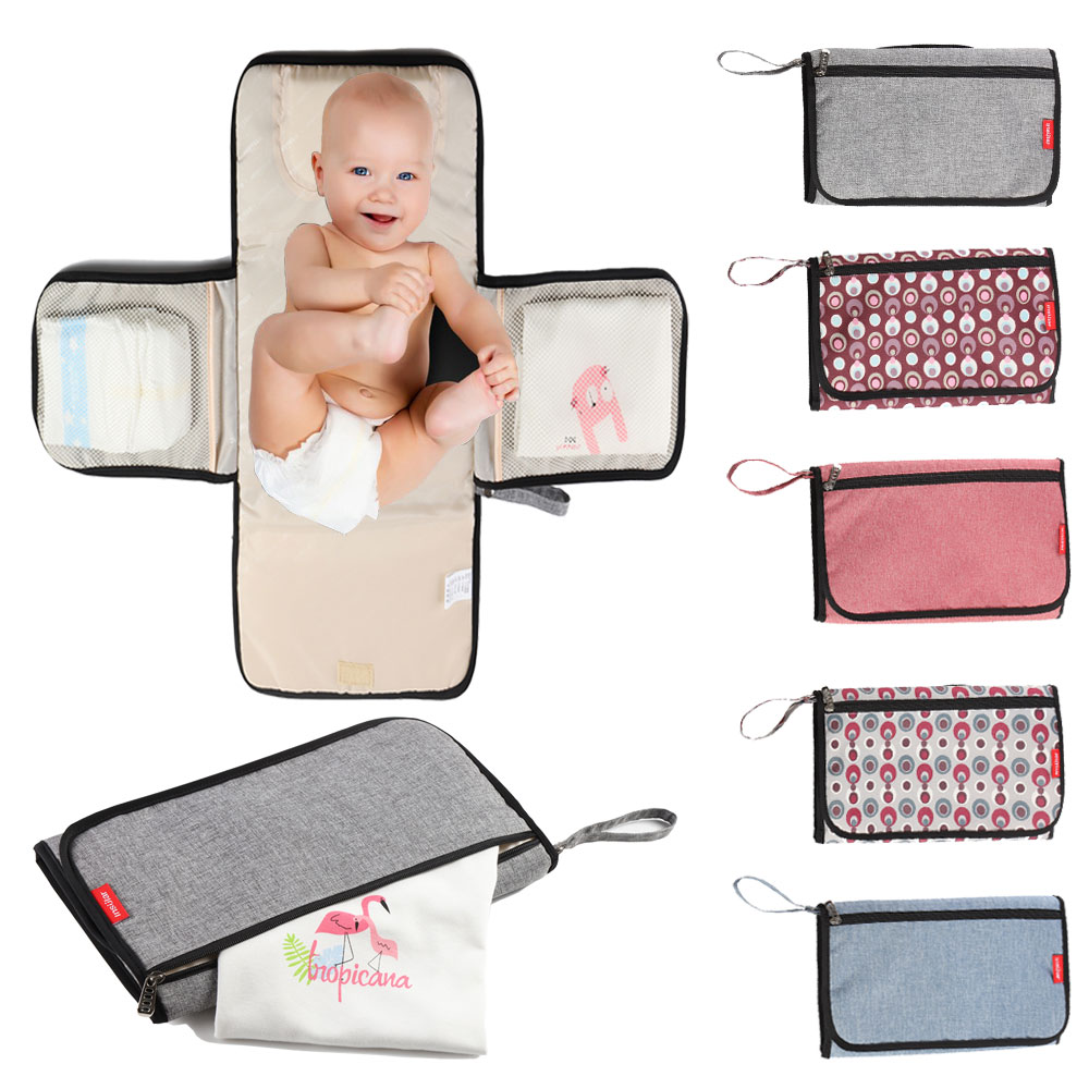HereNice Waterproof Multi Function Portable Diaper Changing Bag Pad Baby Mom Clean Hand Folding Mat Infant Care Products