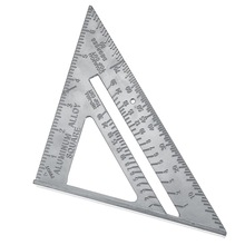 ZEAST 7 дюймов алюминиевый сплав измерительная линейка скорость квадратный кровельный треугольник Угол транспортир Trammel измерительные инструменты