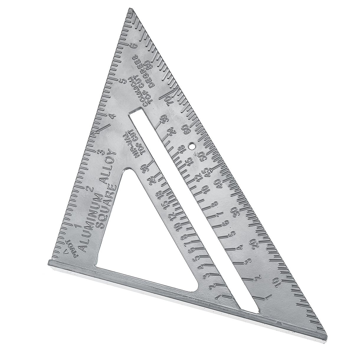 Zeast 7 Inch Aluminum Alloy Measuring Ruler Speed Square Roofing