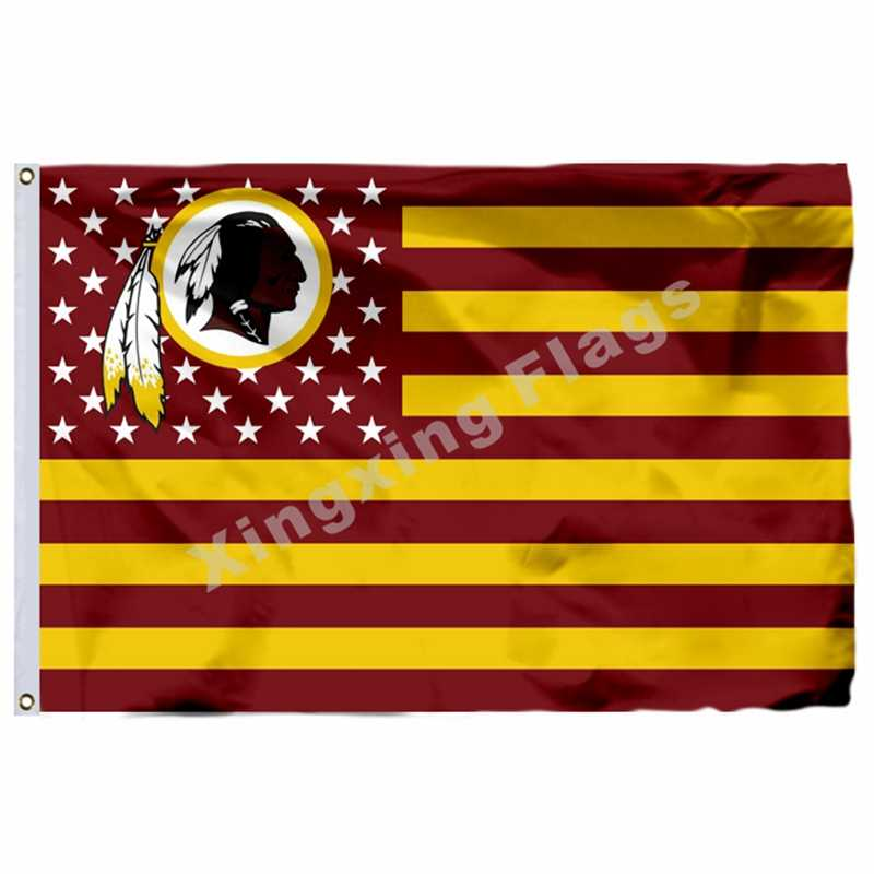 Washington Redskins Nation Flagge 3ft X 5ft Polyester Banner Fliegen No.4 Größe 4 90X150cm Custom Flagge