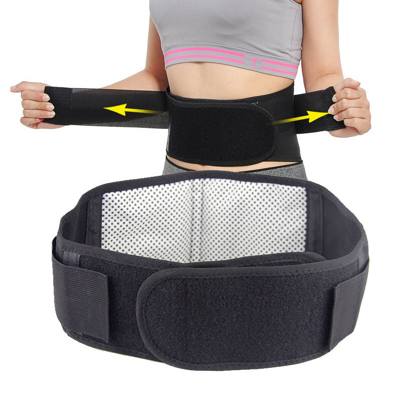 Waist Tourmaline Self Heating Belt Magnetic Therapy Adjustable Back Waist Support Belt Lumbar Brace Massage Band Health Care