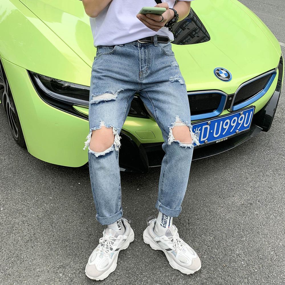 IiDossan Japanese Harajuku Brand Denim Jeans Men Hole Hiphop Jeans 2020 Fashion Streetwear Women Casual Slim Fit Jeans Pants