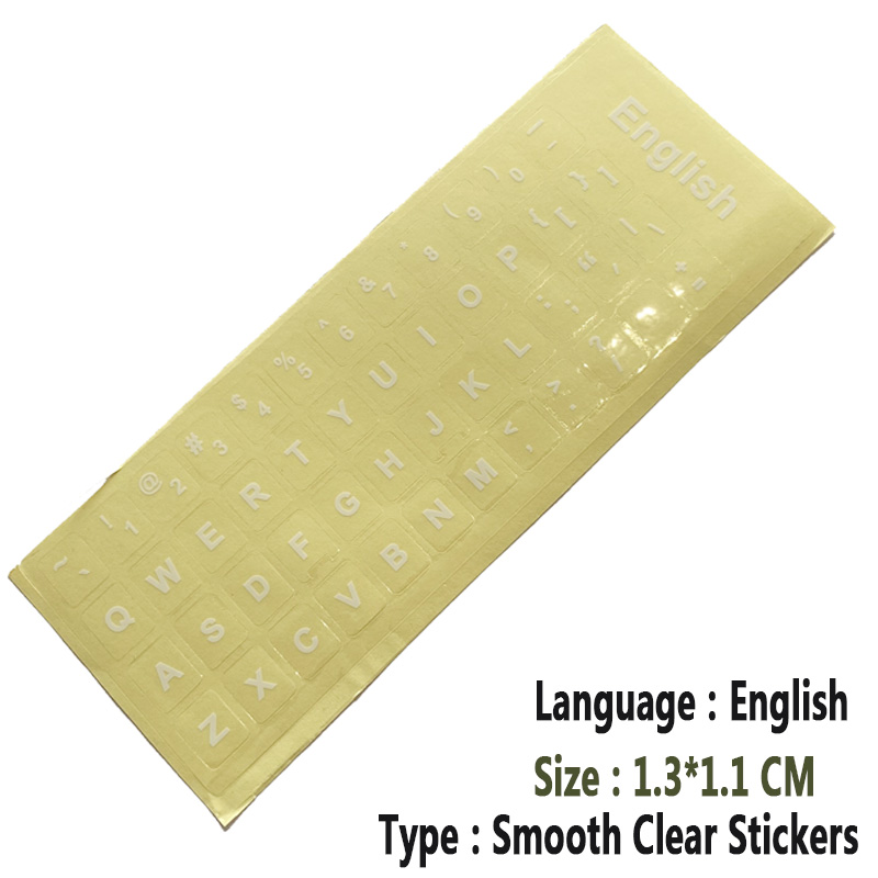 SR Clear Smooth Keyboard Stickers Letter 6 Language Russian German Spain Italy English Japan for Computer Laptop Accessories-1