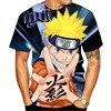 T-Shirt estiva da uomo e da donna Anime Naruto 3d stampa Anime moda Cartoon manica corta Cool top traspiranti
