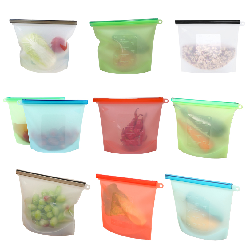 Silicone Food Bags Kitchen Microwave Bento Lunch Box Reusable Silicone Food Container Storage Vegetable Sandwich Bag BPA Free