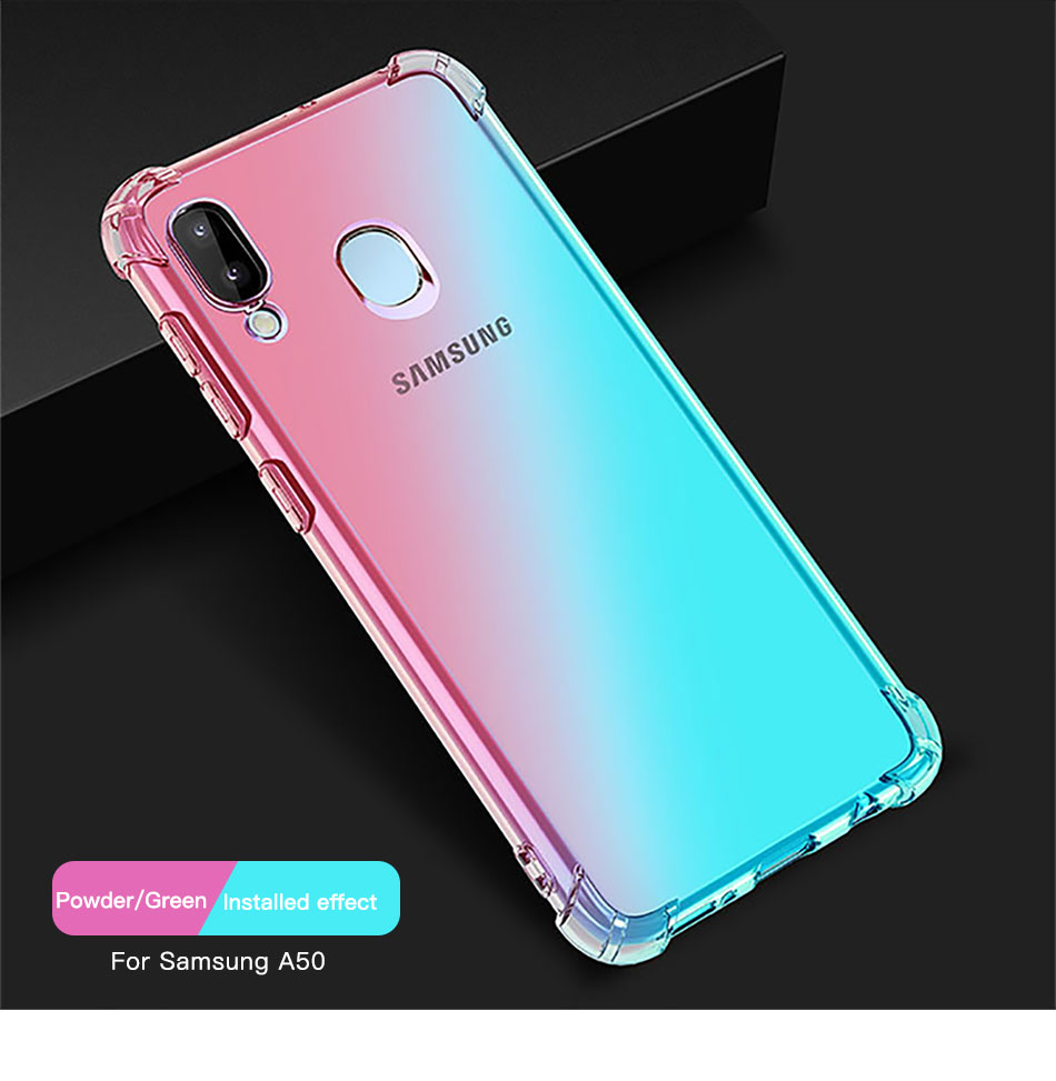 !ACCEZZ Colorful For Samsung A40 A50 Soft Phone Case Protection Back Cover For Galaxy A50 A40 TPU Thin Phone Shell Fitted Case (11)