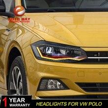 Автомобильный Стайлинг корпус передней фары для VW Polo светодиодный фонарь Polo DRL H7 D2H Hid вариант Ангел глаз биксеноновые фары