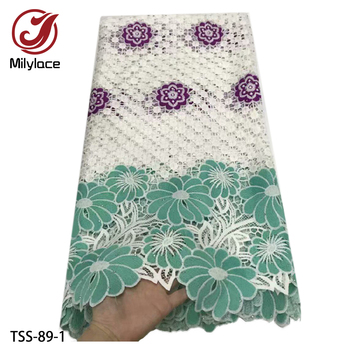 Latest Guipure Lace Cord Lace Embroiderey French African Cord Lace Fabric High Quality Nigeria Lace Fabric for Wedding TSS-89