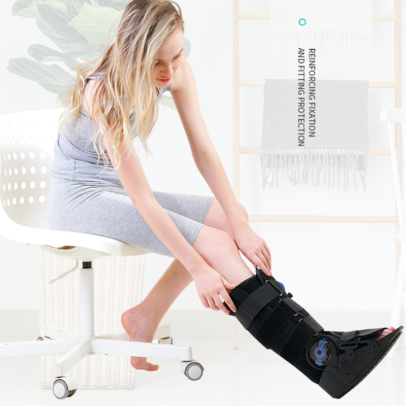 ROM Pneumatic Walker 17 Inch Orthopedic Walking Air Boot Cast Brace For Ankle Injuries Sprains Inflatable Knee Orthosis Supports