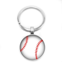 2019 New World Football Key Ring Enthusiasts Chain 25mm Glass Cabochon Fans Gift Jewelry