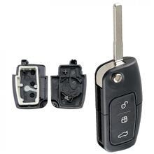 3 кнопки автомобиля брелок чехол Замена оболочки с HU101 лезвие Флип складной пульт дистанционного управления подходит для Ford FOCU SNew
