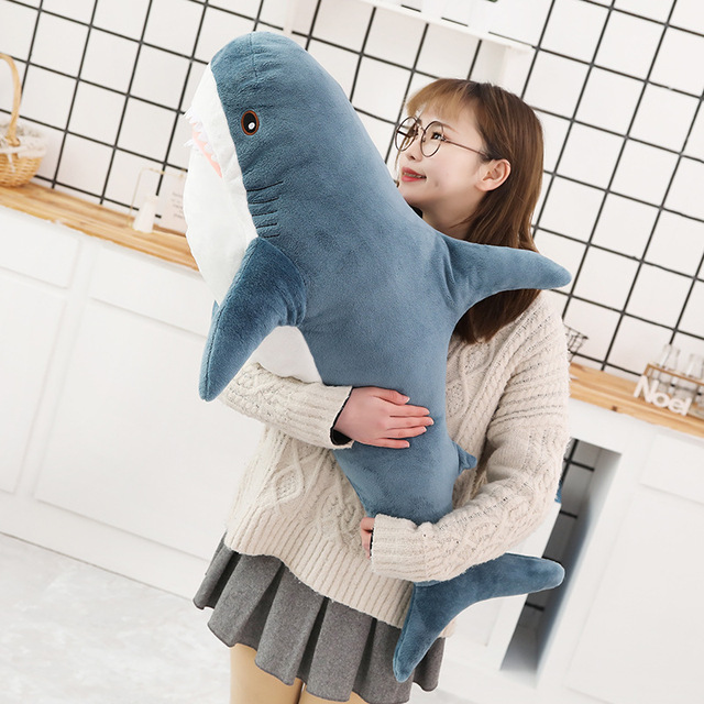 140cm duża miękka symulacja śliczne rekin pluszowe zabawki Kawaii nadziewane dzieci dzieci chłopcy dziewczęta urocze zwierzę poduszka na urodziny prezenty