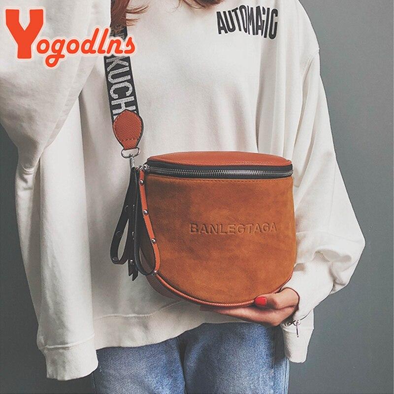 Yogodlns Fashion Women Small vintage Lady Semicircle Saddle Shouder Bag Bucket Bags Crossbody Tote Bag Females casual Bag 5