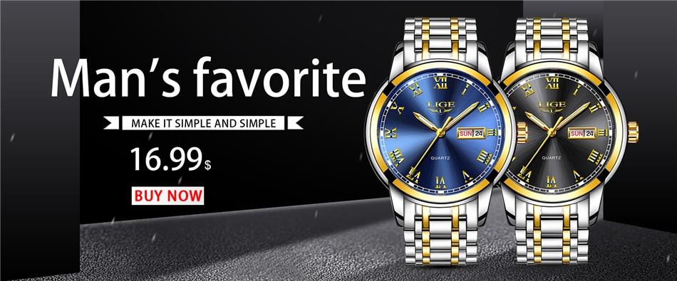 Ha5fa0c50687643ab867c382ad44b4a97v LIGE Watch Men Fashion Sports Quartz Full Steel Gold Business Mens Watches Top Brand Luxury Waterproof Watch Relogio Masculino
