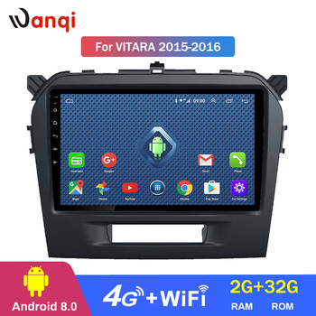 Android 8.0 2+32G  wifi and 4G 2.5D full touch screen for Suzuki Vitara 2015 2016 support Wifi SWC OBD rear camera radio dvd
