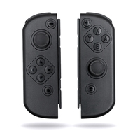 Soft Press Grip Black Controller Housing W/ Full Set Buttons DIY Replacement Shell Case for Nintendo Switch Joy Con