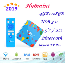 New smart tv set top box H96mini H6 4GB 128GB 6k HD WIFI2.4G/5G Bluetooth support iptv subscription for androidTV Set Top Box