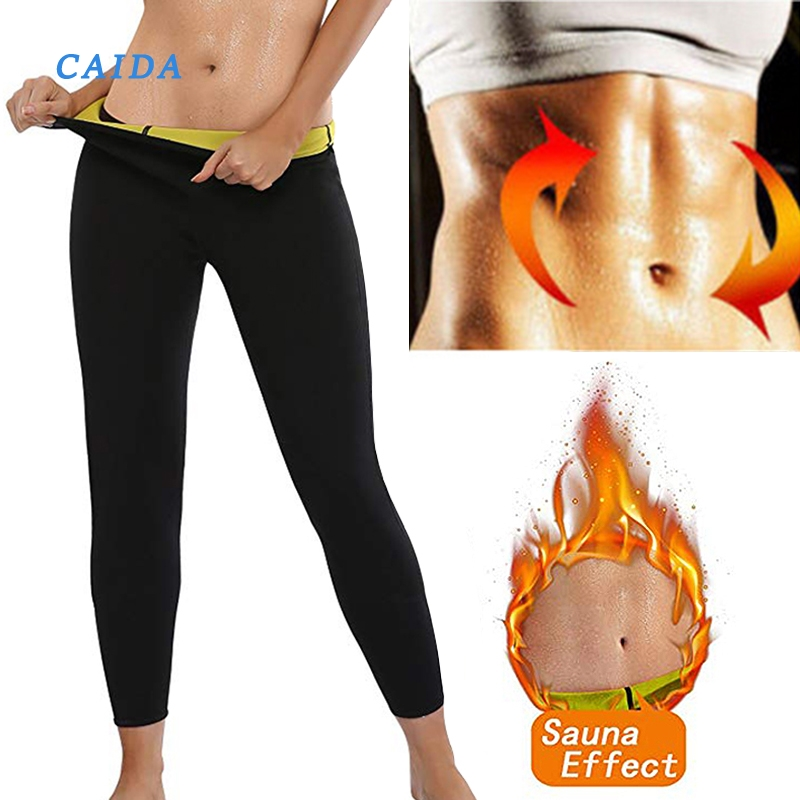 CAIDA Women's Thermo Body Shaper Slimming Pants Neoprene For Weight Loss Waist Fat Burning Sweat Sauna Capris Leggings Shapers