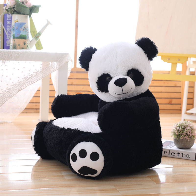 Cartoon Teddy Bear Panda Sofa Plush Toy Doll Birthday Gift Baby Room Decor Washable Removable Learning Seats Photography Props