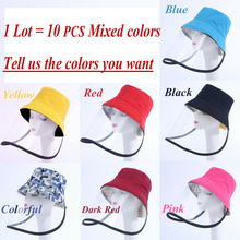 10PCS Wholesale Protective Bucket Hat Detachable Saliva Proof Cap Unisex Anti-Wind Outdoor Tpu Cover Anti Dust Prevent  C003