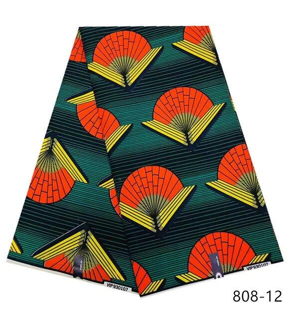 2019 najnowszy styl 100% wosk poliestrowy tkaniny z nadrukiem Ankara wysokiej jakości 6 metrów afrykańska tkanina na imprezę sukienka darmowa wysyłka 2301