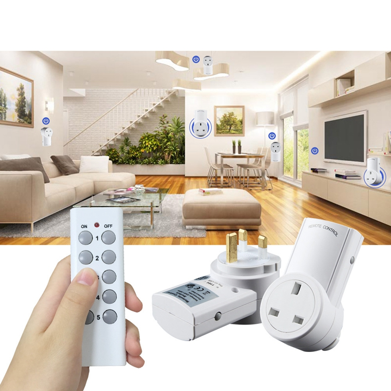 Universal for <font><b>Wireless</b></font> Outlet <font><b>Remote</b></font> Control <font><b>Socket</b></font> Light Switches House Power Outlet Light Switch <font><b>Socket</b></font> for Broadlink 2 TX image