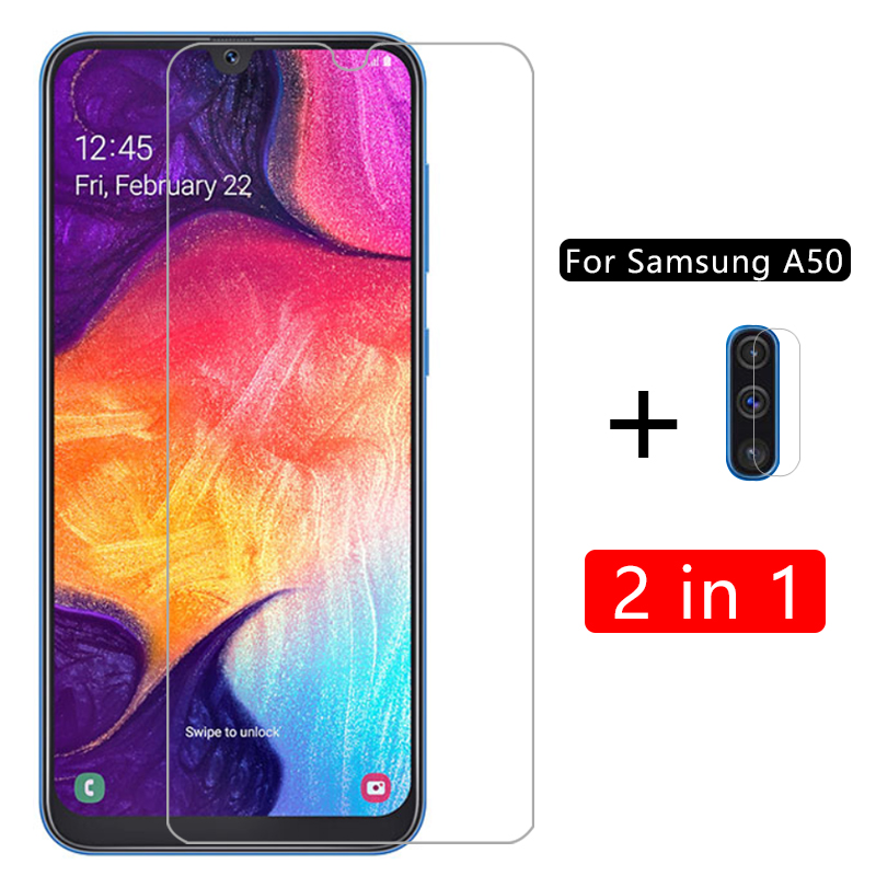 case for <font><b>samsung</b></font> <font><b>a50</b></font> cover tempered glass camera lens film protective on <font><b>galaxy</b></font> a 50 50a coque samsun samsumg sm a505 <font><b>a505f</b></font> 6.4 image