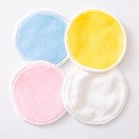 Almohadillas reutilizables de fibra de bambú para eliminar maquillaje, 1 Uds., lavables, algodón, limpieza
