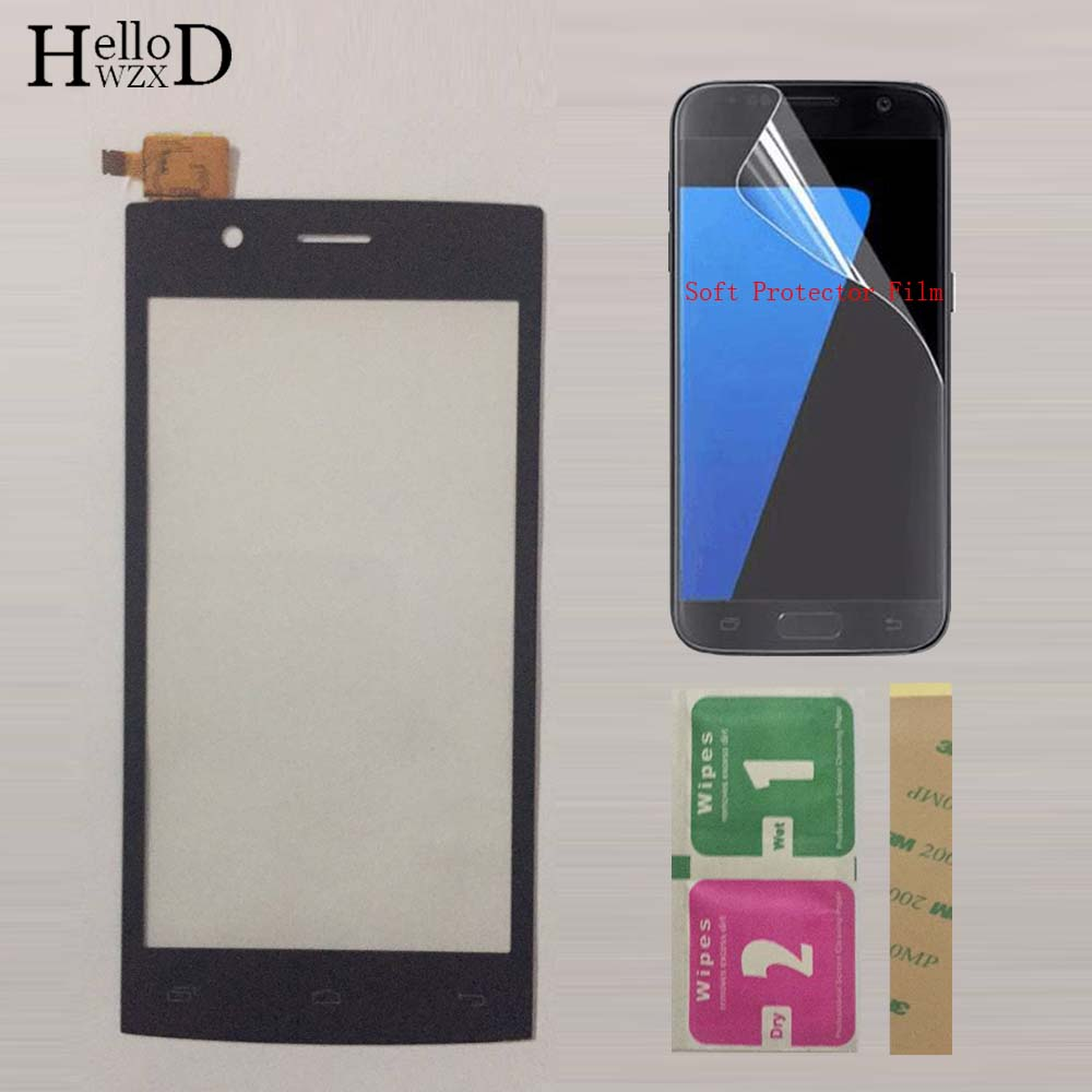 Mobile Touch Screen For Fly FS451 FS 451 Nimbus 1 Touch Screen Sensor Digitizer Front Glass Panel  Protector Film