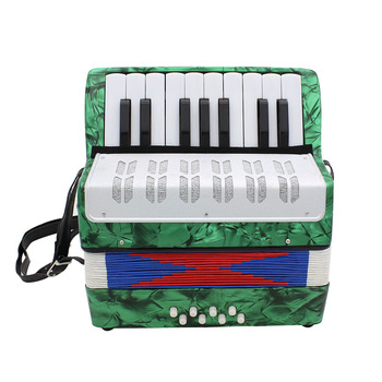 17 Key 8 Bass Small Accordion Educational Musical Instruments Accordion Instrument for Children Navy Blue/Green/Red/Sky Blue