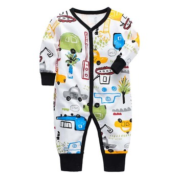 Baby rompers Newborn Baby Girls Boys Clothes 100% Cotton Long Sleeves Baby Pajamas Cartoon Printed Baby's Sets