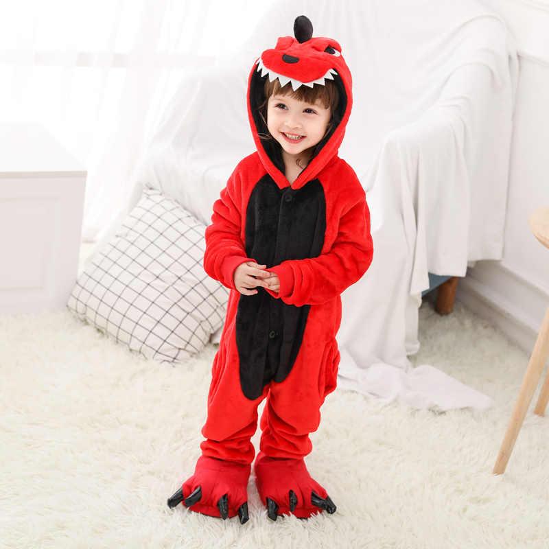 2019 pijamas de animales de invierno Bebé mono franela Navidad ciervos ropa de dormir general 4-12 años niños ropa de dormir con capucha niños Panda
