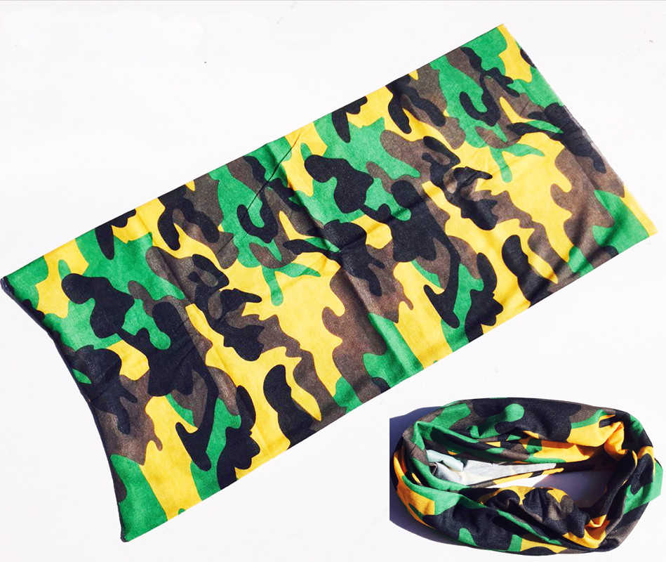 Alta-salto camuflagem cachecol bandana ciclismo masculino feminino máscara facial tático ao ar livre magia headwear acampamento caminhadas pescoço mais quente cachecol