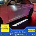 2PCS Auto Willkommen Lichter Für Mercedes Benz W213 W205 GLC auto rückspiegel zubehör Schatten dekoration weiß licht lampe zeichen