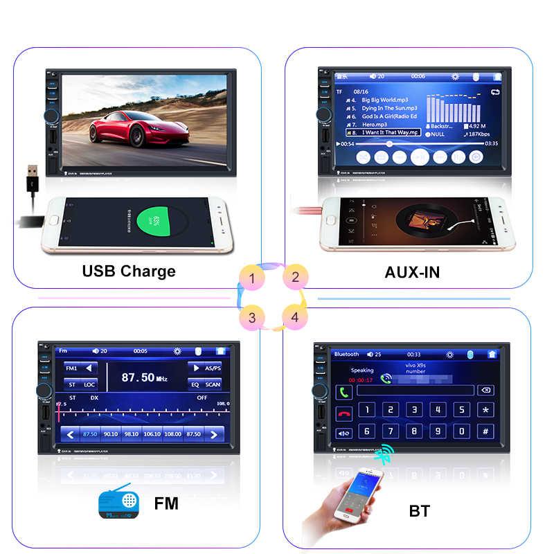 "7018b Din Auto Radio 7 ""Hd Autoradio Multimedia Speler 2DIN Touch Screen Auto Audio Auto Stereo MP5 Bluetooth Usb tf Fm Camera"