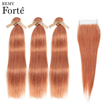 Remy Forte Straight Hair Bundles With Closure Colored Blonde Bundles With Closure Peruvian Hair Weave Bundles 3/4 Hair Bundles remy forte straight hair bundles with closure pink bundles with closure brazilian hair weave bundles 3 4 colored hair bundles