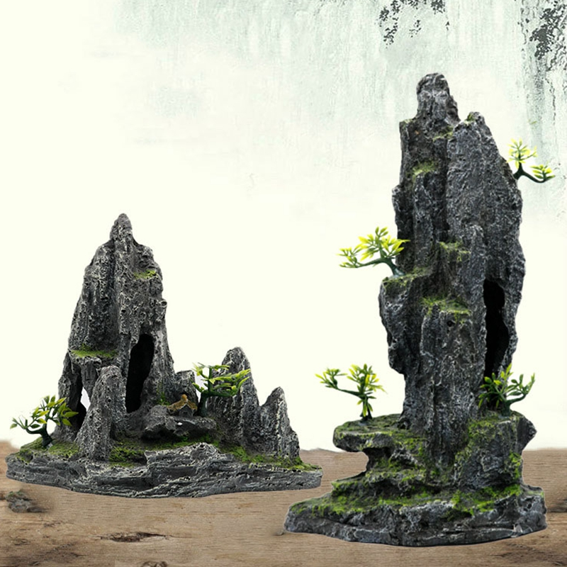 Аквариум для аквариума, ландшафтный орнамент, рокеры, моделирование, смола, ремесло, декор для аквариума, каменные украшения|Декорации|   | АлиЭкспресс