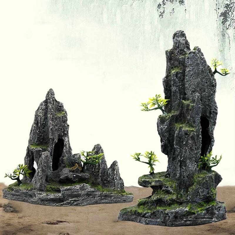 Fish Tank Landscaping Ornamental Rockery Simulation Resin Craft Aquarium Decorative Rock Ornaments