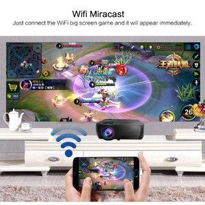 Image 3 - Potężne wsparcie 720P projektor X5 odtwarzacz multimedialny 3D kino domowe zagraj w grę USB podłącz telefon Laptop TF karta wideo Beamer Proyector