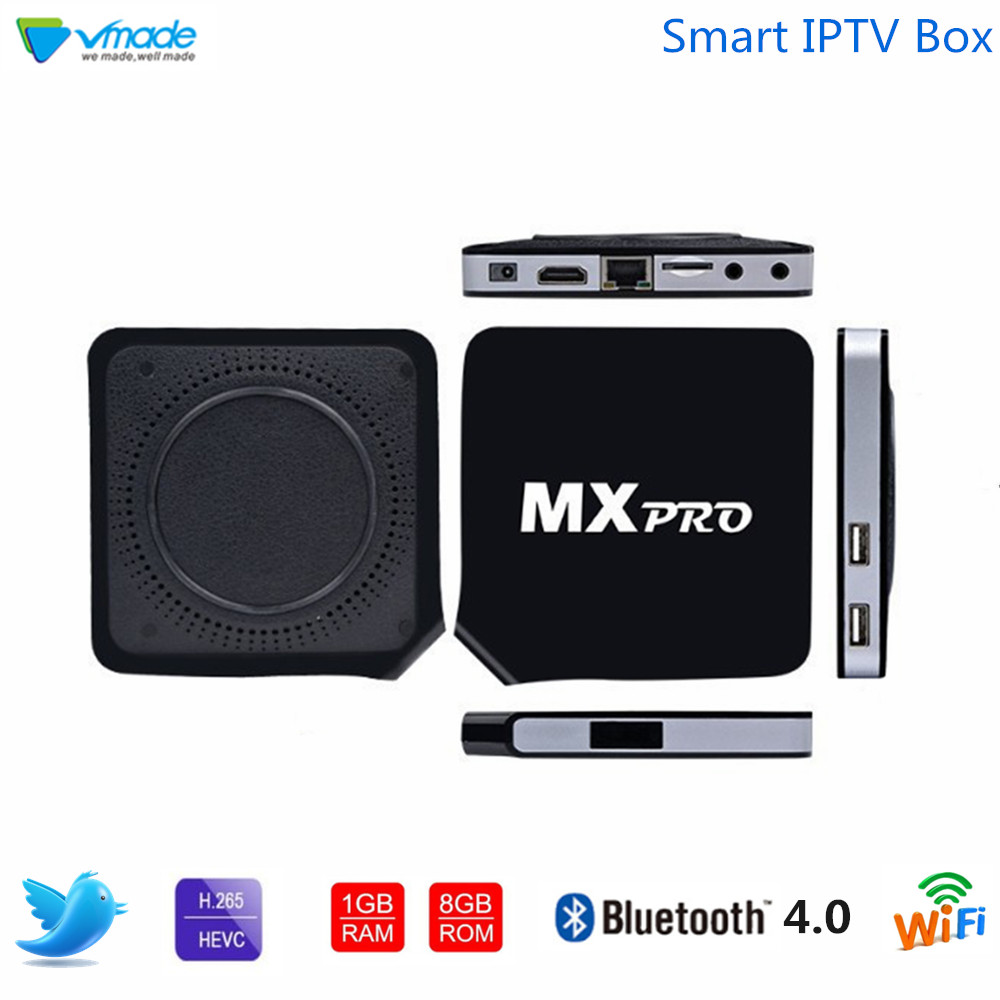 Vmade Android 6.0 Amlogic S905X Quad Core Smart TV Box 1G 8GB HD 4K H.265/HEVC 3D WIFI 5G Wireless Router Media Player Receiver