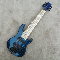 2019 NEW TOP QUALITY Mini 6 strings ukelele bass guitar, transparent blue electric guitar,free shipping