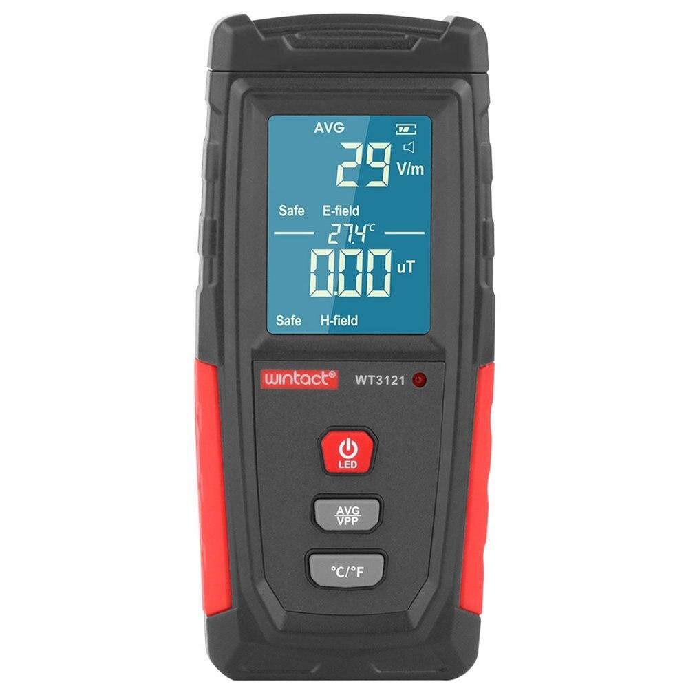 WT3121 de LCD Digital medidor EMF radiación electromagnética de campo eléctrico, campo magnético Detector de dosímetros 8 pulgadas protección contra la radiación 3D teléfono móvil pantalla amplificador teléfono móvil titular de la pantalla de vídeo HD caja de cuero lupa