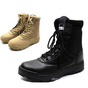 PLUS rozmiar 36-46 nowy amerykański skórzany wojskowy buty wojskowe dla mężczyzn bojowy Bot piechota buty taktyczne Askeri Bot armia boty buty wojskowe tanie i dobre opinie ORVAB Pracy i bezpieczeństwa Prawdziwej skóry Skóra bydlęca Połowy łydki Stałe Cotton Fabric Skóra Split Okrągły nosek