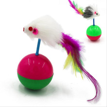 1pc New Arrival Durable Pet Cat Toys Mimi Favorite Fur Mouse Tumbler Kitten Cat Toys Plastic Play Balls for Catch Cats Supplies