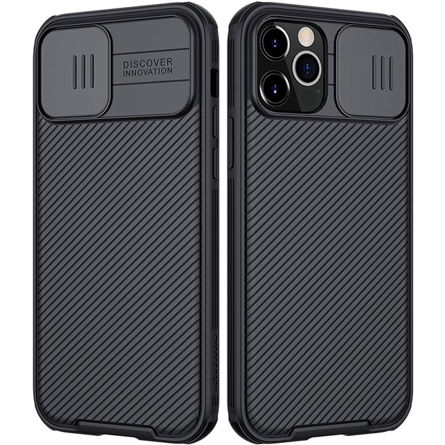 for Apple iPhone 12 Pro Max Phone Case,NILLKIN Camera Protection Slide Protect Cover Lens Protection Case for iPhone 12 Mini 5G
