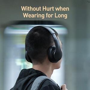 Image 3 - Baseus D07 Wireless Headphone Bluetooth 5.0 Earphone Handsfree Mega Bass Headset Ear HeadPhone For iPhone Xiaomi Huawei Earpiece