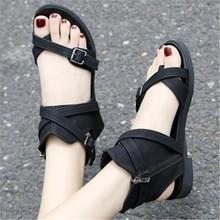 2020 New Fashion Sandals Women Summer Beach Gladiator Buckle Strap Sandals Flat Casual Shoes Women Beach Rome Style sandals