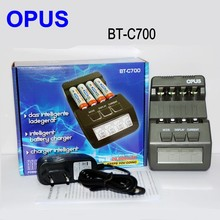 Оригинальное зарядное устройство OPUS BT-C700 NiCd NiMh с ЖК-дисплеем, цифровое интеллектуальное зарядное устройство AAA 16340 RCR123 14500 AA с 4 слотами, Европ...