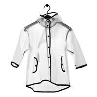 New Transparent EVA Raincoat Boys Rain Coat Hooded Outdoors Clear Waterproof Kids Girls Toddler Children's Raincoats Rainwear